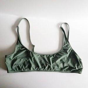 Debshop Swim suit top 3x olive green